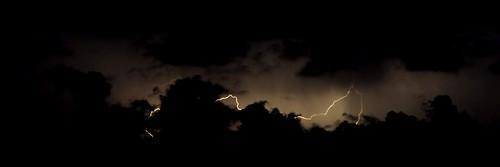 black clouds dark lightning