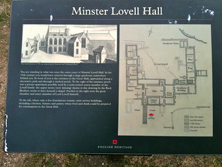 English Heritage sign at Minster Lovell Hall | by Tip Tours