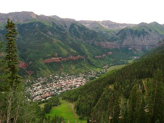 View of Telluride, Colorado from Telluride Ski Resort | by Ken Lund