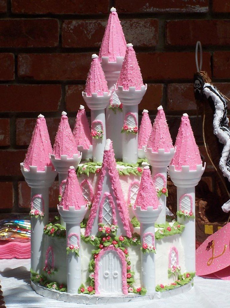Excellent Wilton Princess Castle Birthday Cake Kimberly Flickr Personalised Birthday Cards Petedlily Jamesorg