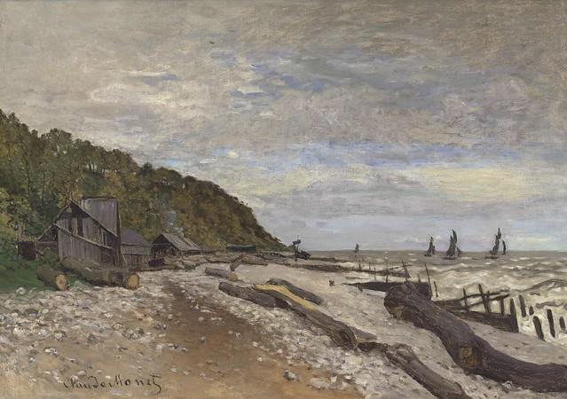 Le Chantier de petits navires près de Honfleur (C Monet - W 27)