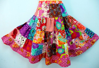 """Riot of Passion"" patchwork skirt 