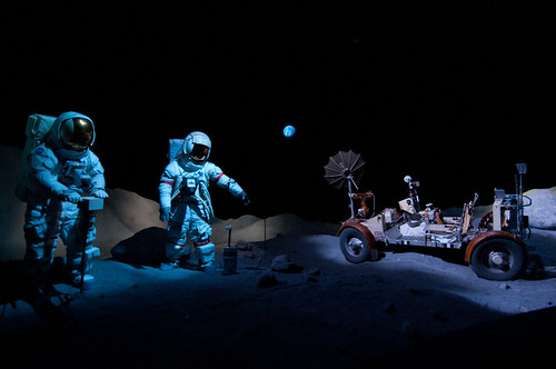 travel blue light usa moon white man black car museum digital america geotagged grey nikon texas availablelight space gray fake houston nasa suit planet copyspace distance lightroom d300 lunarrover christian_senger:year=2010 gettyvacation2010 osm:way=33852692 dopplr:explore=naf1