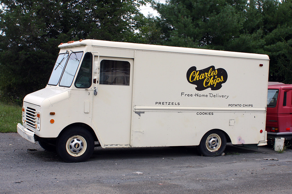 Charles Chips Step Van   Passed this truck coming back from