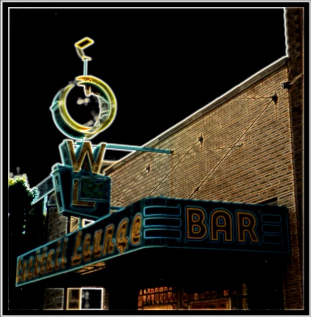 Livingston Montana ~ Owl Cocktail Lounge ~ Historic District