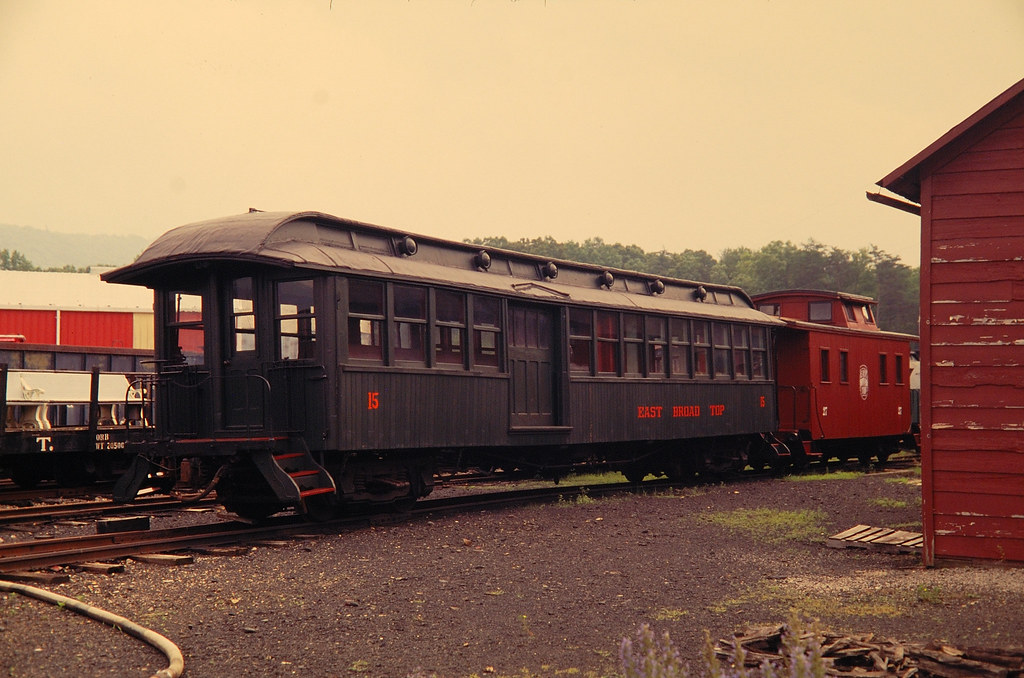 EBT 15 at Orbisonia, PA | EBT 15, Passenger Car, at orbisoni