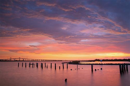 longexposure sunset clouds texas orangecounty bridgecity