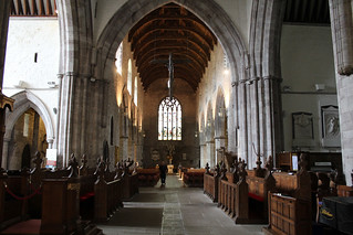 The crossing and nave , Brecon Cathedral   by pluralzed