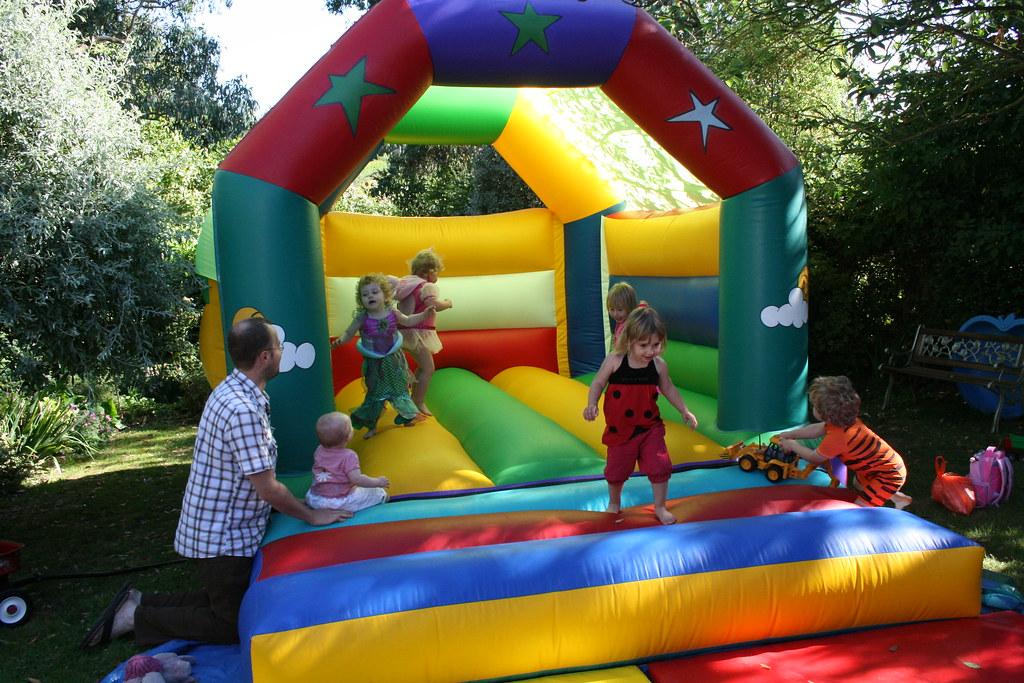 Bouncy castle action