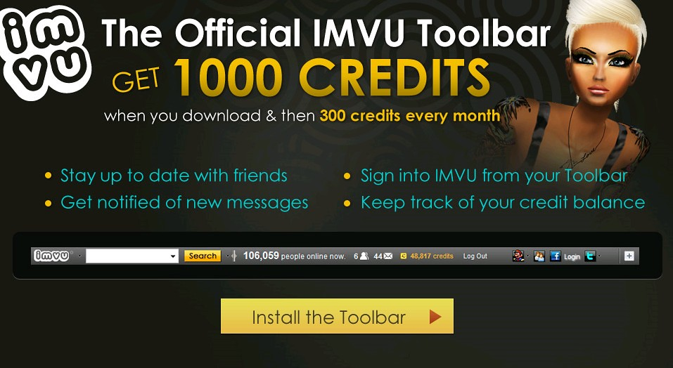 IMVU Official Community Toolbar | IMVU is a social network a