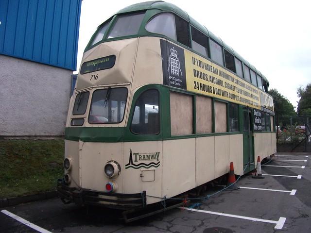 Perth-Ex.Blackpool Balloon tram 716  11/7/2010