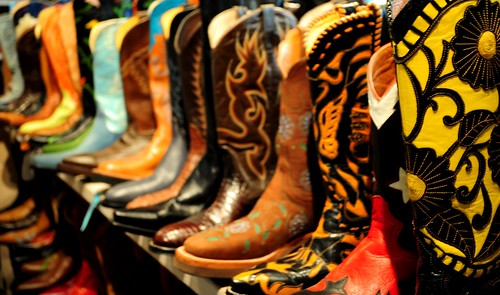 Cowboy Boots All in a Row
