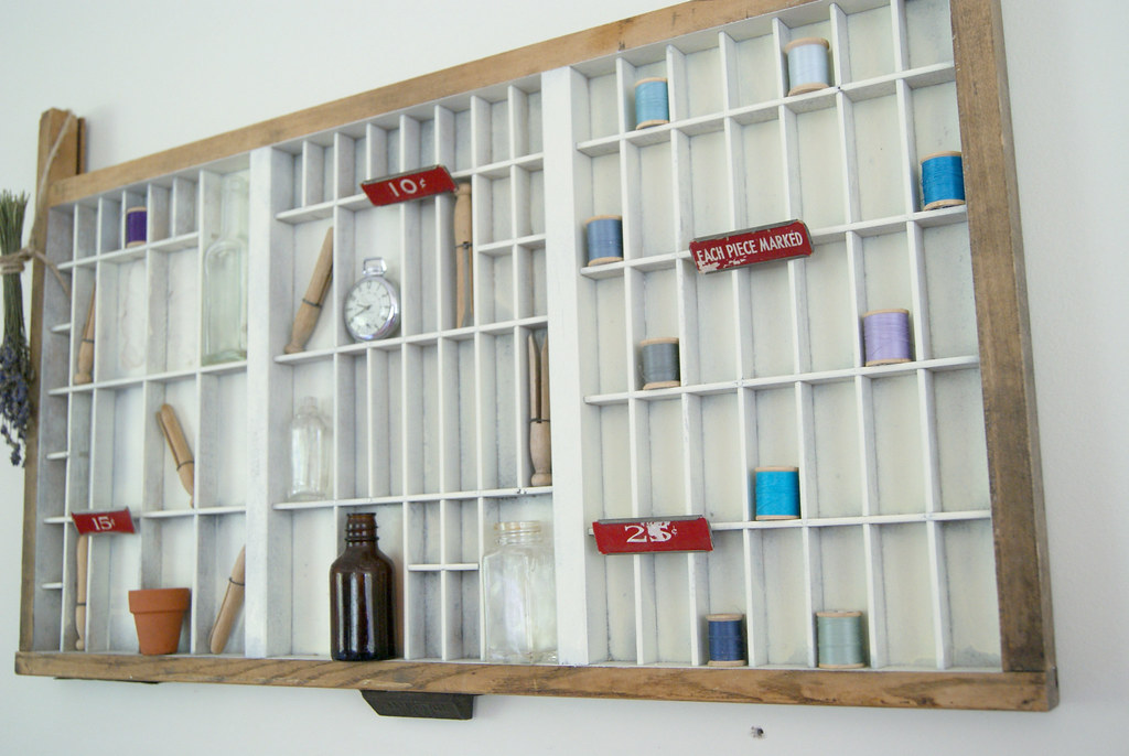 antique letterpress drawer | Now upcycled into a wall hangin… | Flickr