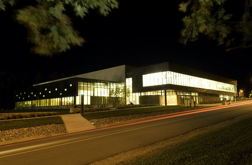 Student Recreation Center At Night