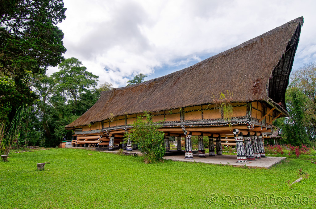 Rumah Bolon or long house of the Batak chief | Pematang Purb