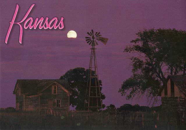 Kansas Country Nightfall Postcard