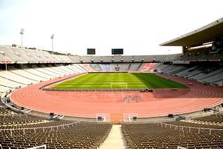 """España, Barcelona, Montjuic """" Estadio Olímpico Lluís Companys """" 1929"""