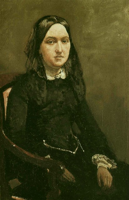 Camille Corot:  Mme Bison (1852)