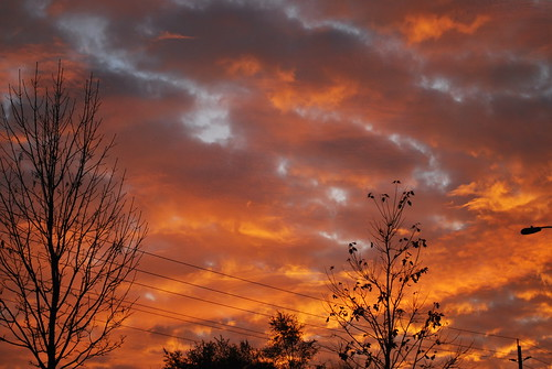 sky sunrise fire ottawa on