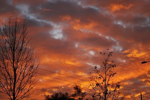 sky sunrise fire ottawa on