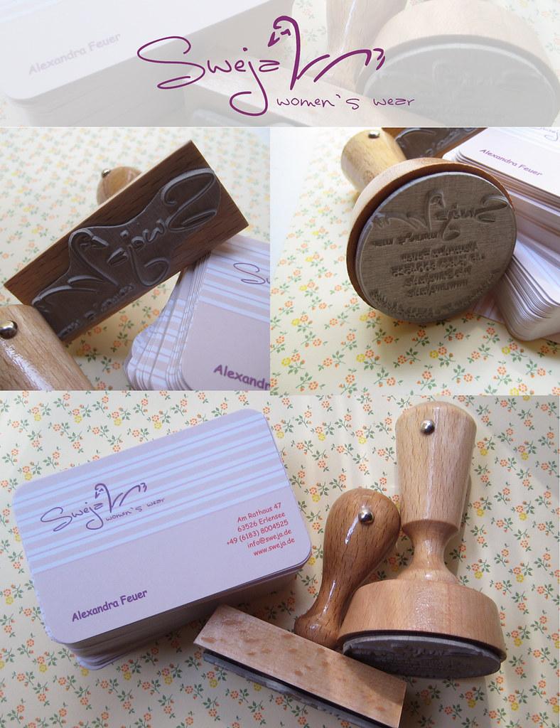 Signet Stempel Adress Stempel Visitenkarten Shopkonzep