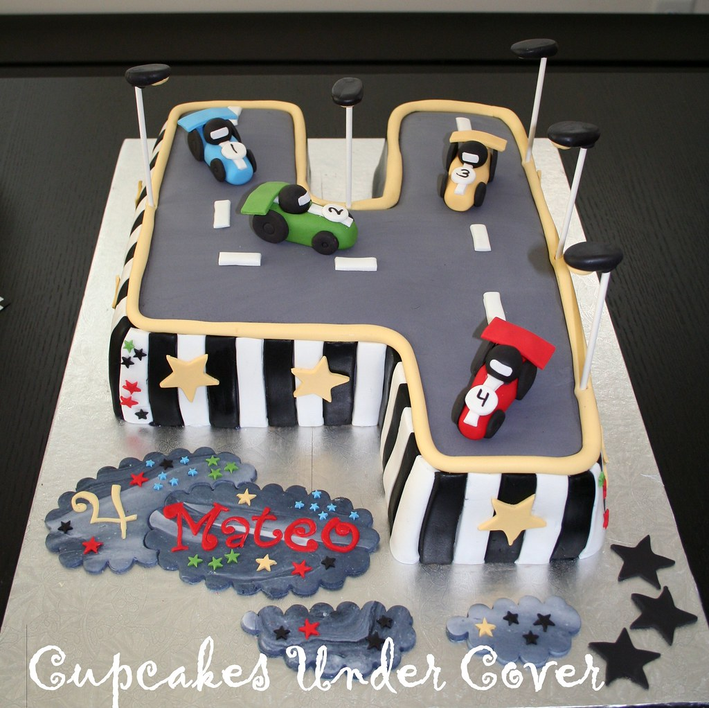 Wondrous Car Theme Inspired Birthday Cake My Now 4 Year Old Loves S Flickr Personalised Birthday Cards Veneteletsinfo