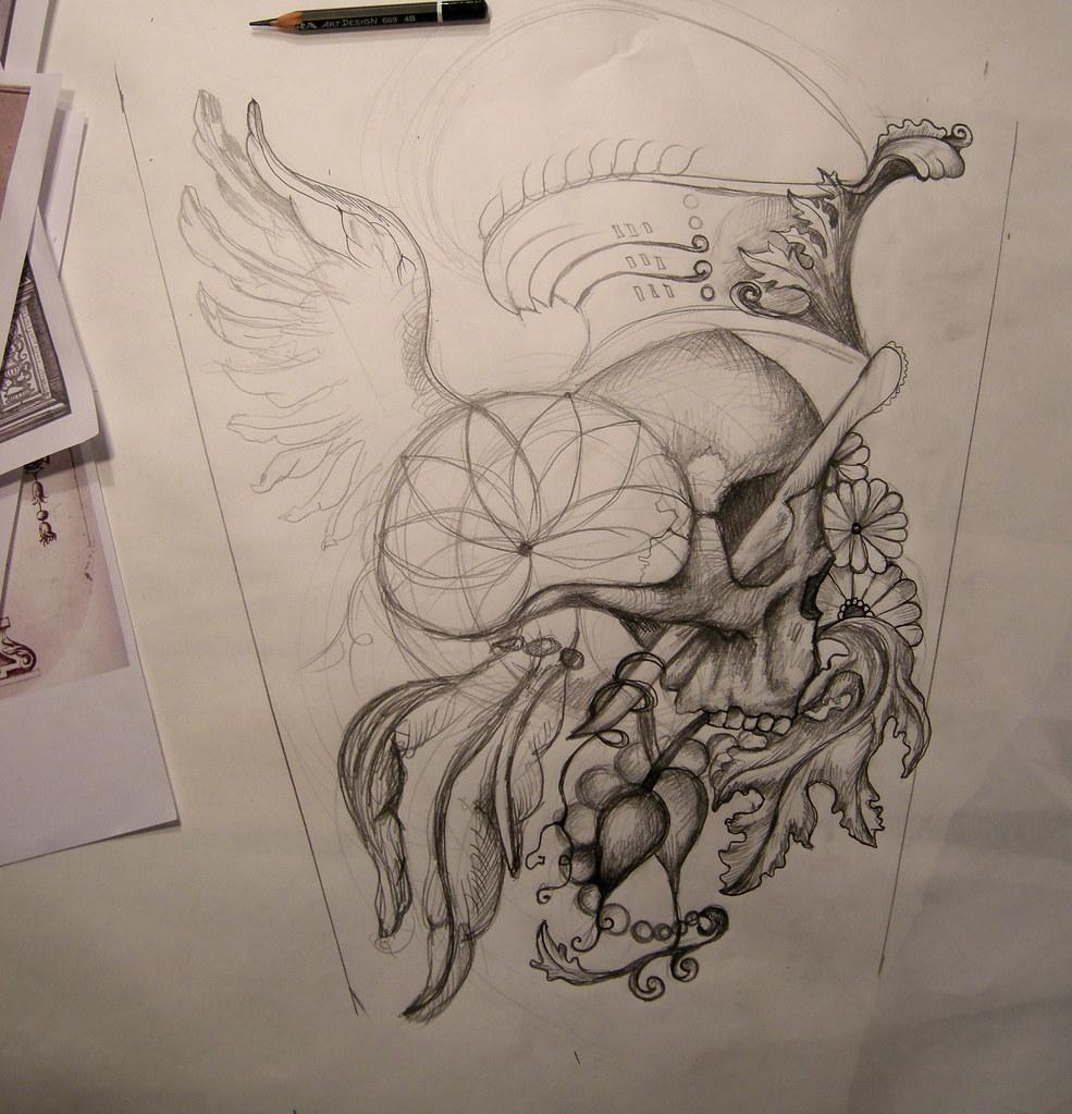 Half Sleeve Tattoo Design For My Friend Adam In Progress
