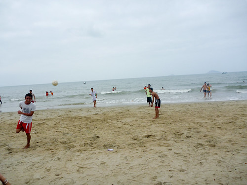 Playing football on Cua Dai Beach | by In Vinnie Veritas