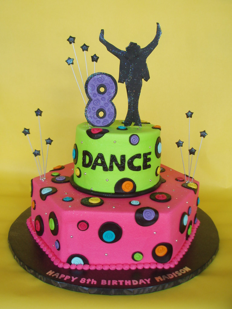Astounding Neon Michael Jackson Dance Themed Birthday Cake I Have Bee Flickr Personalised Birthday Cards Cominlily Jamesorg