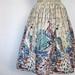 1950s peacock novelty print full skirt