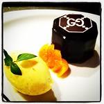チョコレートのムース•アプリコット•バニラジェラート