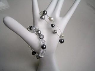 perles+cristal Swarovski et argent 925   by galerierempart