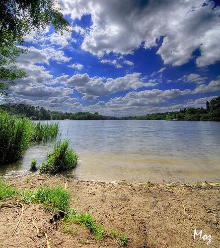 lake london water beautiful clouds bluesky vista slough moz virginiawaters vertorama