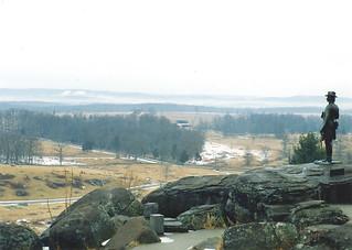 gs7 Foggy Winter Day on Little Round Top - Gettysburg
