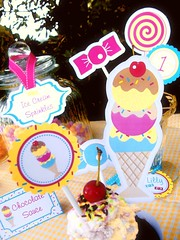 vintage ice cream candy sweet party supplies printables paper goods2