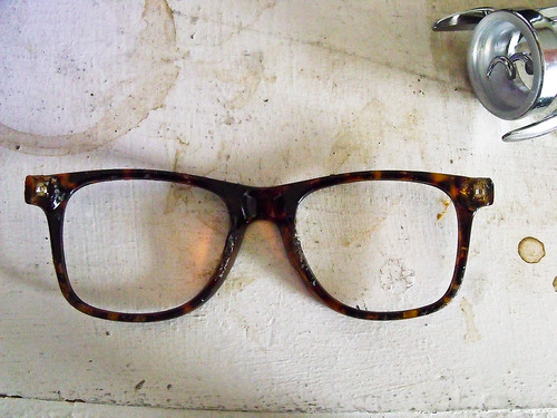 Found: grungy pair of broken hipster frames. | by danisabella