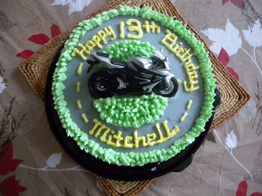 Superb Motorbike Cake Quick Birthday Cake For A 13 Year Old Boy W Flickr Funny Birthday Cards Online Inifodamsfinfo
