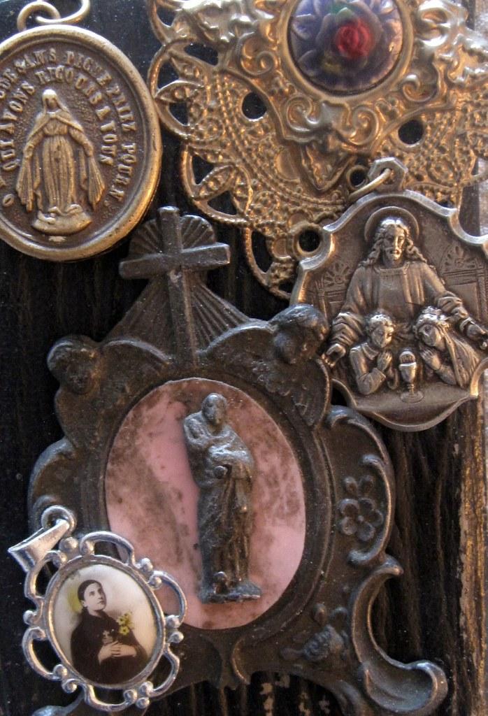 Flea Market finds Vintage Catholic Medals | Constanza | Flickr