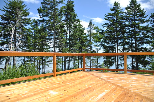 vacation house view maine deck scr