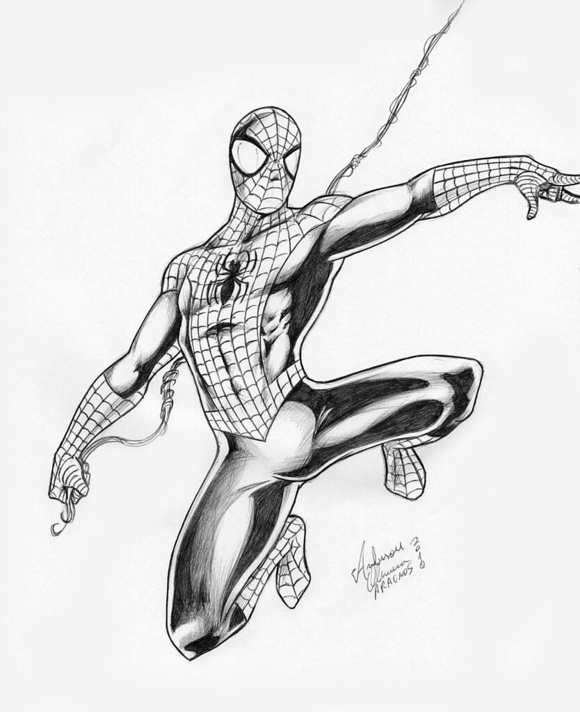 Um Desenho Por Dia 6 Homem Aranha Wwwnovafronteiracom