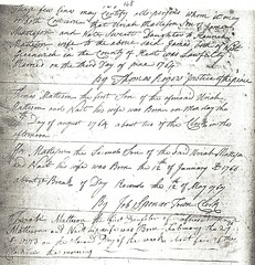 Family Records for Uriah and Waite Sweet Matteson