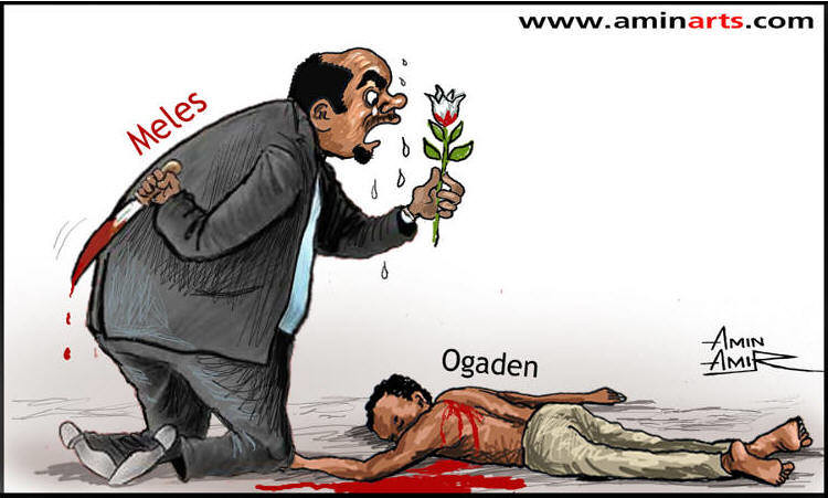 Ethiopian President Meles Zenawi and the genocide happenin