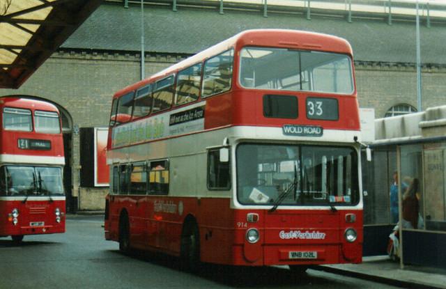 914, VNB 102L, Leyland Atlantean, Park Royal Body H43-32F, 1973 (East Yorks & Ex-Greater Manc) (t.1990)