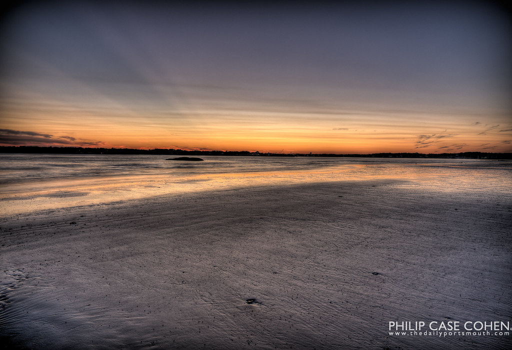 Sunset at the Beach by Philip Case Cohen
