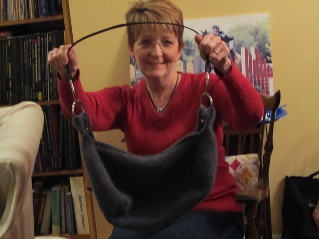 Nancy's Felted Knit Purse