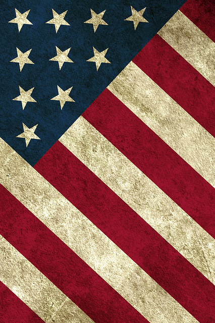 Worn Flag - iPhone 4 Wallpaper