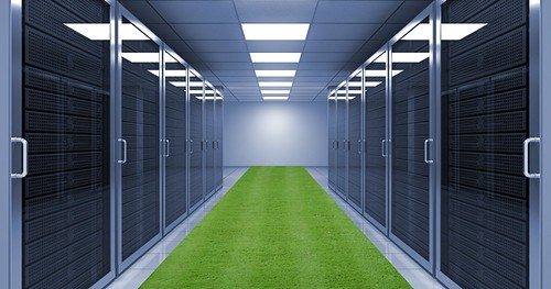 Server room with grass! | by Tom Raftery