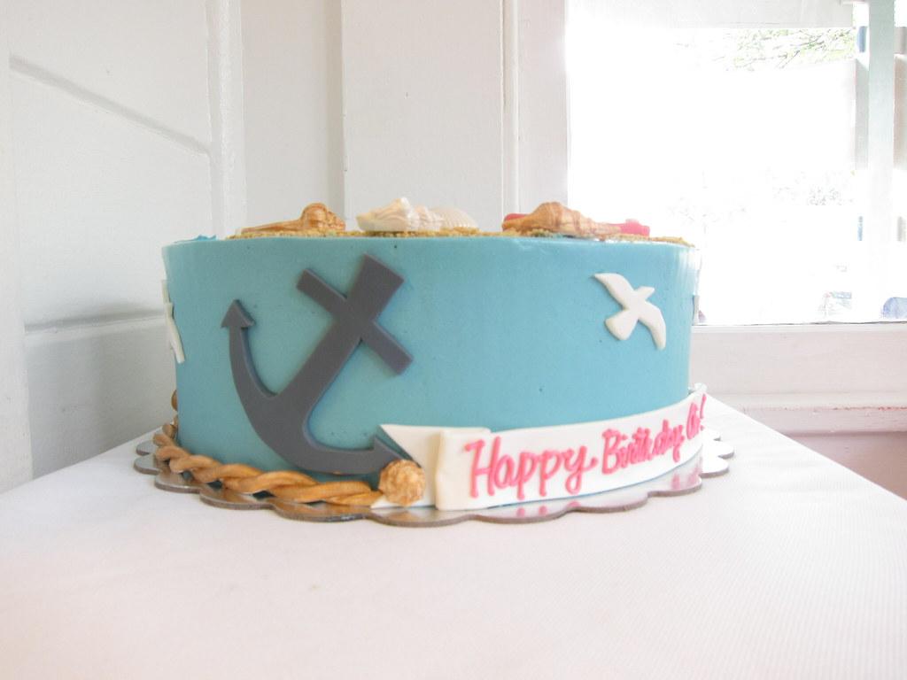 Astounding Summer Birthday Cake Polkadots Olga Flickr Personalised Birthday Cards Cominlily Jamesorg