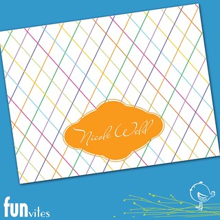 Colorful Lines Stationery Cards | by funvites