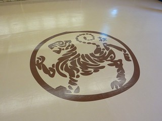 Lake Forest Shotokan hand painted floor graphic | by MrBigCity